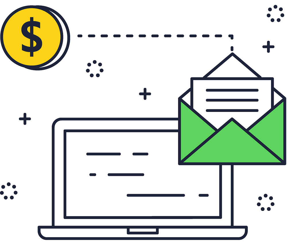Icon email blast marketing