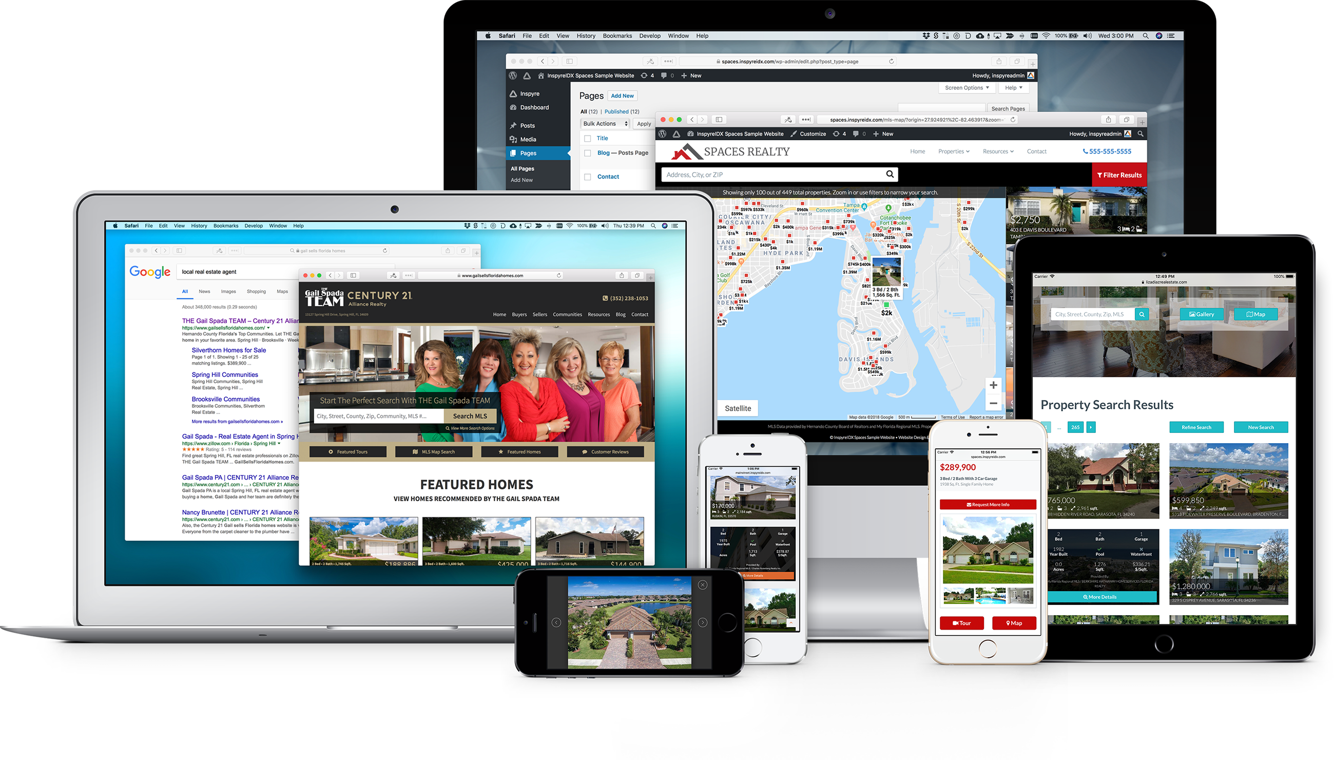 Modern responsive real estate IDX website design and effective marketing solutions for Realtors, real estate agents, teams, and brokers.